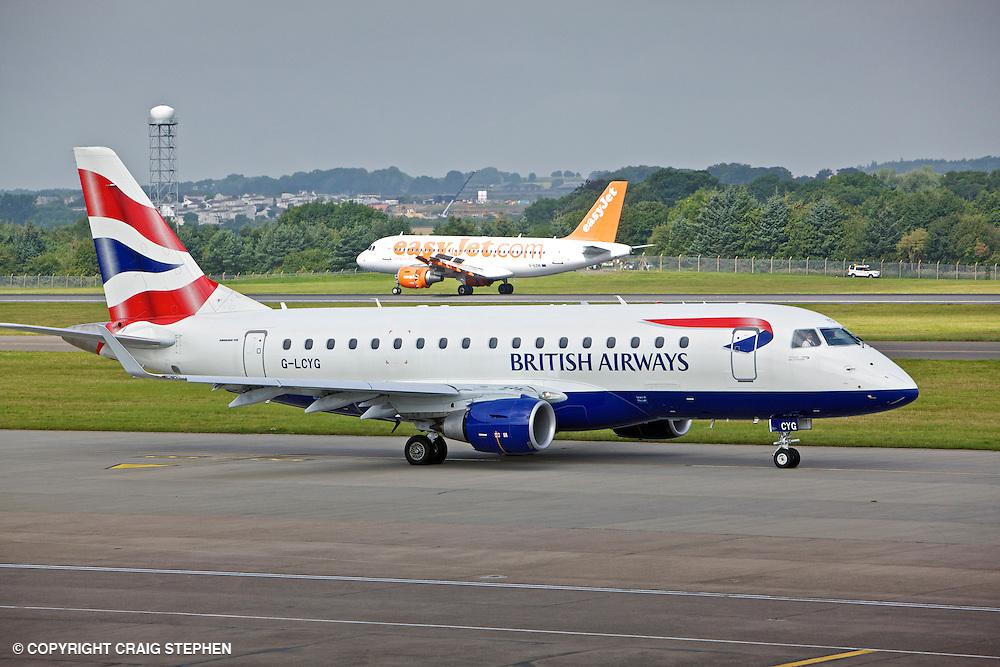 BA Cityflyer G-LCYG Embraer E170 STD at Edinburgh Airport