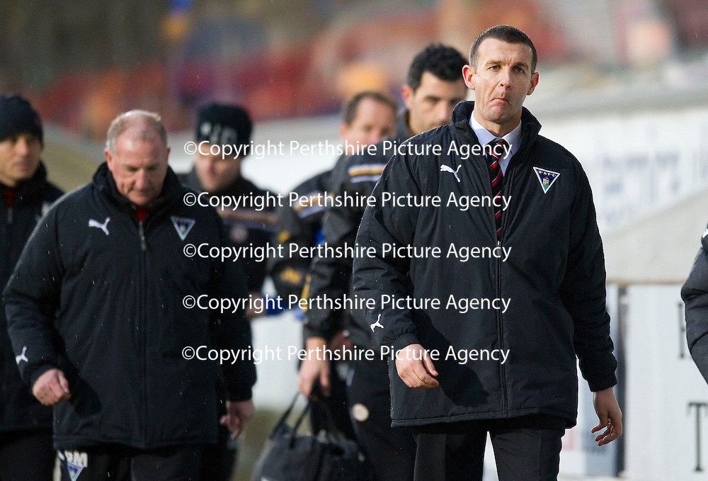Dunfermline v St Johnstone..24.12.11   SPL <br /> Pars boss Jim McIntyre<br /> Picture by Graeme Hart.<br /> Copyright Perthshire Picture Agency<br /> Tel: 01738 623350  Mobile: 07990 594431
