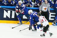 Sacha Treille / Laurent Meunier - 03.05.2015 - France / Suisse - Championnat du Monde de Hockey sur Glace -Prague <br />Photo : Xavier Laine / Icon Sport