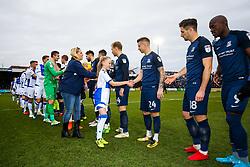 Mascot handshakes - Rogan/JMP - 09/12/2017 - FOOTBALL - Memorial Stadium - Bristol, England - Bristol Rovers v Southend United - EFL Sky Bet League One.