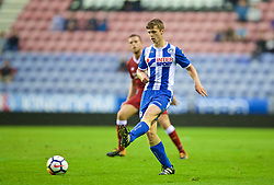 WIGAN, ENGLAND - Friday, July 14, 2017: Wigan Athletic's Christopher Merrie during a preseason friendly match against Liverpool at the DW Stadium. (Pic by David Rawcliffe/Propaganda)