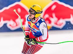 25.01.2020, Streif, Kitzbühel, AUT, FIS Weltcup Ski Alpin, Abfahrt, Herren, im Bild Max Franz (AUT) // Max Franz of Austria reacts after the men's downhill of FIS Ski Alpine World Cup at the Streif in Kitzbühel, Austria on 2020/01/25. EXPA Pictures © 2020, PhotoCredit: EXPA/ Stefan Adelsberger