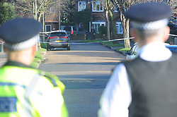 © Licensed to London News Pictures.10/01/2018<br /> Chislehurst, UK.<br /> CHISLEHURST MURDER.<br /> A murder investigation has been launched in Chislehurst after an 18-year-old man was assaulted and died from his injuries. Police were called at approximately 21:05hrs on Tuesday, 9 January to reports of a fight on Empress Drive in Chislehurst.Officers attended and found an injured man. He was taken by the London Ambulance Service to a south a London hospital where he later died shortly after 08:00hrs.His next of kin have been informed. <br /> <br /> Photo credit: Grant Falvey/LNP