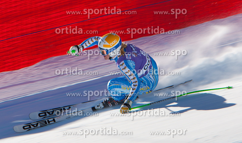 14.01.2012, Pista Olympia delle Tofane, Cortina, ITA, FIS Weltcup Ski Alpin, Damen, Abfahrt, im Bild Anja Paerson (SWE) // Anja Paerson of Sweden  during ladies downhill race of FIS Ski Alpine World Cup at 'Pista Olympia delle Tofane' course in Cortina, Italy on 2012/01/14. EXPA Pictures © 2012, PhotoCredit: EXPA/ Johann Groder