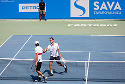 David Poljak (CZE) play against Antoine Escoffier (FRA) at ATP Challenger Zavarovalnica Sava Slovenia Open 2018, on August 5, 2018 in Sports centre, Portoroz/Portorose, Slovenia. Photo by Urban Urbanc / Sportida