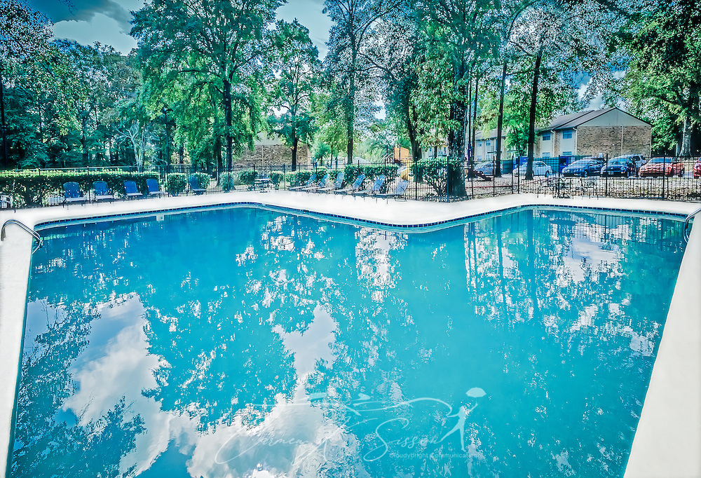A swimming pool is one of the amenities available to residents at Autumn Woods apartment homes, November 27, 2015, in Mobile, Alabama. The apartment complex, located on Foreman Road, is owned by Sealy Management Company. (Photo by Carmen K. Sisson/Cloudybright)