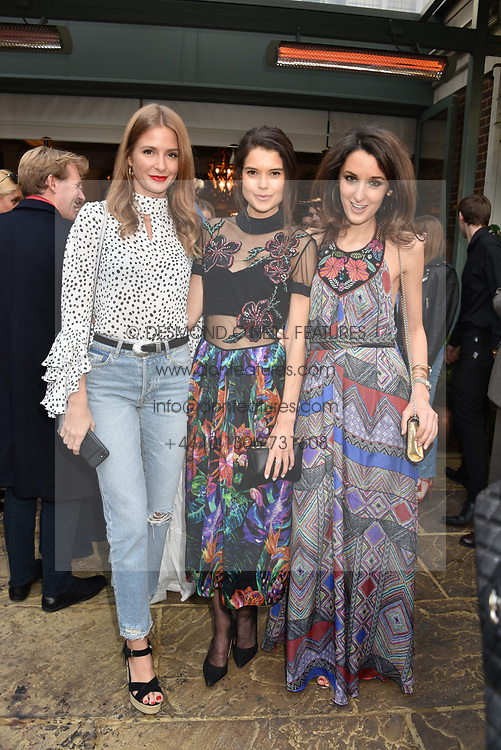 Left to right, Millie Mackintosh, Sarah Ann Macklin and Rosanna Falconer at The Ivy Chelsea Garden's Annual Summer Garden Party, The Ivy Chelsea Garden, 197 King's Road, London England. 9 May 2017.<br /> Photo by Dominic O'Neill/SilverHub 0203 174 1069 sales@silverhubmedia.com