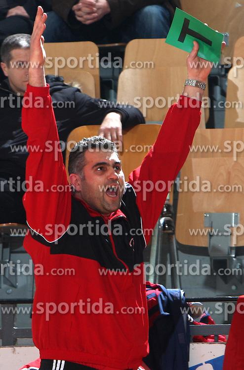 Coach of Slovan Boris Denic at 15th round of Slovenian Handball MIK 1st league match between RD Slovan and RK Celje Pivovarna Lasko, on February 6, 2009, in Kodeljevo, Ljubljana, Slovenia. Win of RK Slovan 18:17. (Photo by Vid Ponikvar / Sportida)