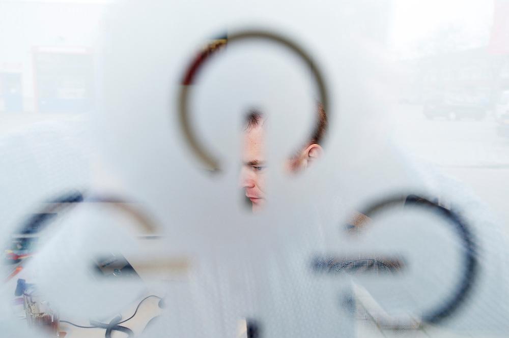 Foto: Gerrit de Heus. Delft. 14-02-2014. Wouter Olde Weghuis, directeur Webtechniek.