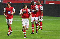 20111103 Braga: SC Braga vs. NK Maribor, UEFA Europa League, Group H, 4th round. In picture: Paulo Vinicius scores for Braga. Photo: Pedro Benavente/Cityfiles
