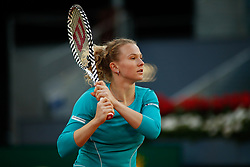 May 4, 2019 - Madrid, MADRID, SPAIN - Katerina Siniakova (CZE) during the Mutua Madrid Open 2019 (ATP Masters 1000 and WTA Premier) tenis tournament at Caja Magica in Madrid, Spain, on May 04, 2019. (Credit Image: © AFP7 via ZUMA Wire)
