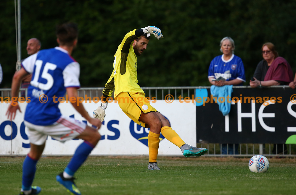 Crawley's Yusuf Mersin  during the pre season friendly between Crawley Town and Ipswich Town at East Court, East Grinstead, UK. 17 July 2018.