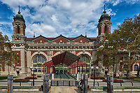 Immigration Hall from the ferry landing. Ellis Island National Monument. Image taken with a Fuji X-T2 camera and 18-55 mm zoom lens (ISO 200, 18 mm, f/5.6, 1/950 sec).