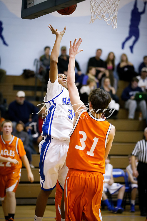 February/5/13:  MCHS JV Boys Basketball vs Clarke Eagles.  Madison wins 50-49.
