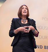 Liberal Democrats Autumn Conference in Brighton, East Sussex 17th September 2018 <br /> <br /> Jane Dodds, Leader of the Welsh Liberal Democrats keynote speech <br /> <br /> Photograph by Elliott Franks
