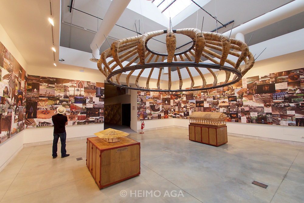 """Venice, Italy - 15th Architecture Biennale 2016, """"Reporting from the Front"""".<br /> International Pavilion.<br /> Simon Vélez's Battles and Strategies to be able to use bamboo."""