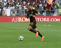 April 28, 2018 - Rome, Italy - Bruno Peres during the Italian Serie A football match between A.S. Roma and Chievo at the Olympic Stadium in Rome, on april 28, 2018. (Credit Image: © Silvia Lore/NurPhoto via ZUMA Press)