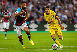 Winston Reid of West Ham and Antonio Mance of NK Domzale during 2nd Leg football match between West Ham United FC and NK Domzale in 3rd Qualifying Round of UEFA Europa league 2016/17 Qualifications, on August 4, 2016 in London, England.  Photo by Ziga Zupan / Sportida