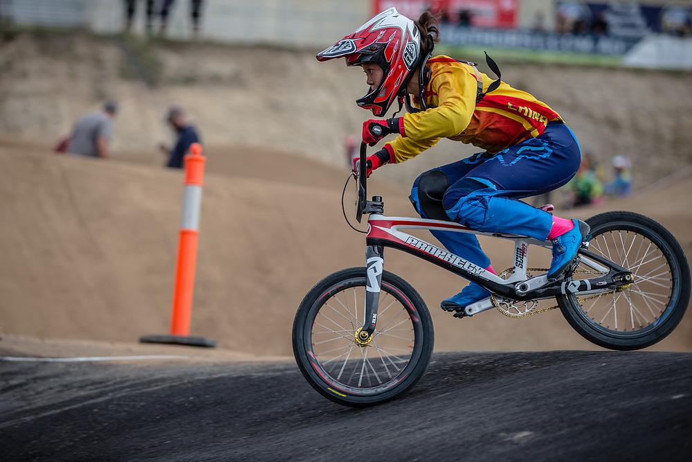 at Round 3 of the 2020 UCI BMX Supercross World Cup in Bathurst, Australia.