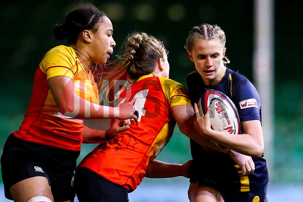 Vicky Laflin of Worcester Warriors Women is tackled by Sophie Pascall of Richmond Women - Mandatory by-line: Robbie Stephenson/JMP - 11/01/2020 - RUGBY - Sixways Stadium - Worcester, England - Worcester Warriors Women v Richmond Women - Tyrrells Premier 15s