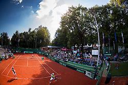 Court during Davis Cup Slovenia vs. South Africa on September 14, 2013 in Tivoli park, Ljubljana, Slovenia. (Photo by Vid Ponikvar / Sportida.com)
