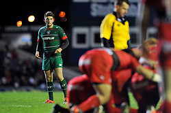Owen Williams of Leicester Tigers watches a scrum - Photo mandatory by-line: Patrick Khachfe/JMP - Mobile: 07966 386802 07/12/2014 - SPORT - RUGBY UNION - Leicester - Welford Road - Leicester Tigers v Toulon - European Rugby Champions Cup