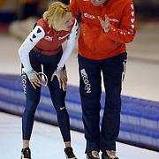 NLD/Heerenveen/20060121 - ISU WK Sprint 2006, Marianne Timmer en coach Jac Orie
