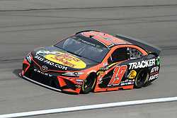 March 1, 2019 - Las Vegas, NV, U.S. - LAS VEGAS, NV - MARCH 01: Martin Truex Jr (19) Joe Gibbs Racing (JGR) Toyota Camry drives through turn four during practice for the Monster Energy NASCAR Cup Series 22nd Annual Pennzoil 400 on March 1, 2019, at the Las Vegas Motor Speedway in Las Vegas, Nevada. (Photo by Michael Allio/Icon Sportswire) (Credit Image: © Michael Allio/Icon SMI via ZUMA Press)