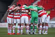 Doncaster Rovers   during the EFL Sky Bet League 2 match between Doncaster Rovers and Colchester United at the Keepmoat Stadium, Doncaster, England on 15 October 2016. Photo by Simon Davies.