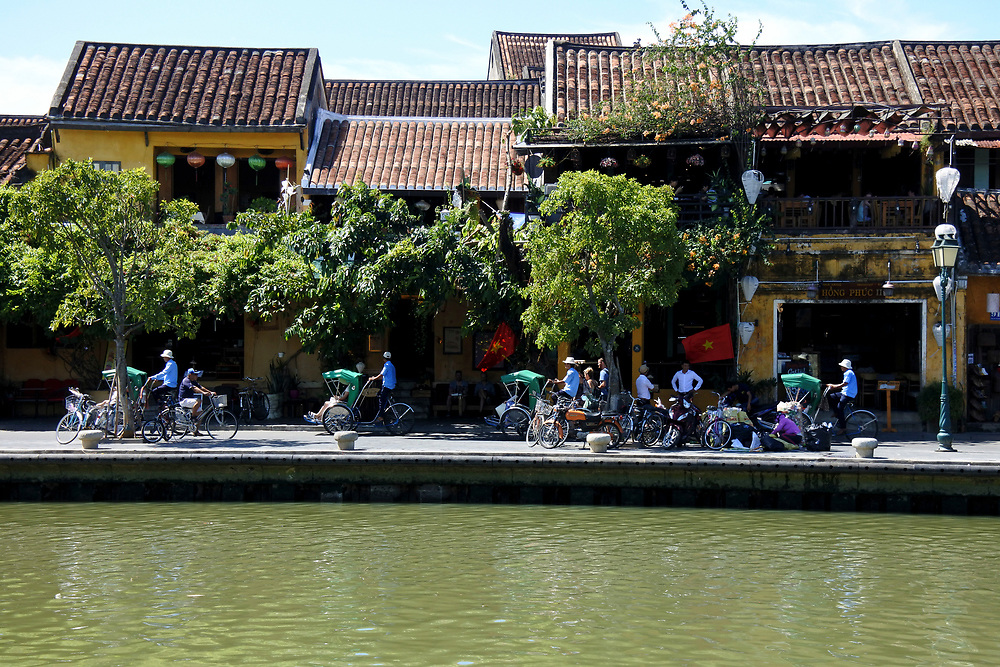 Old Restaurant on the river front in Hoi An