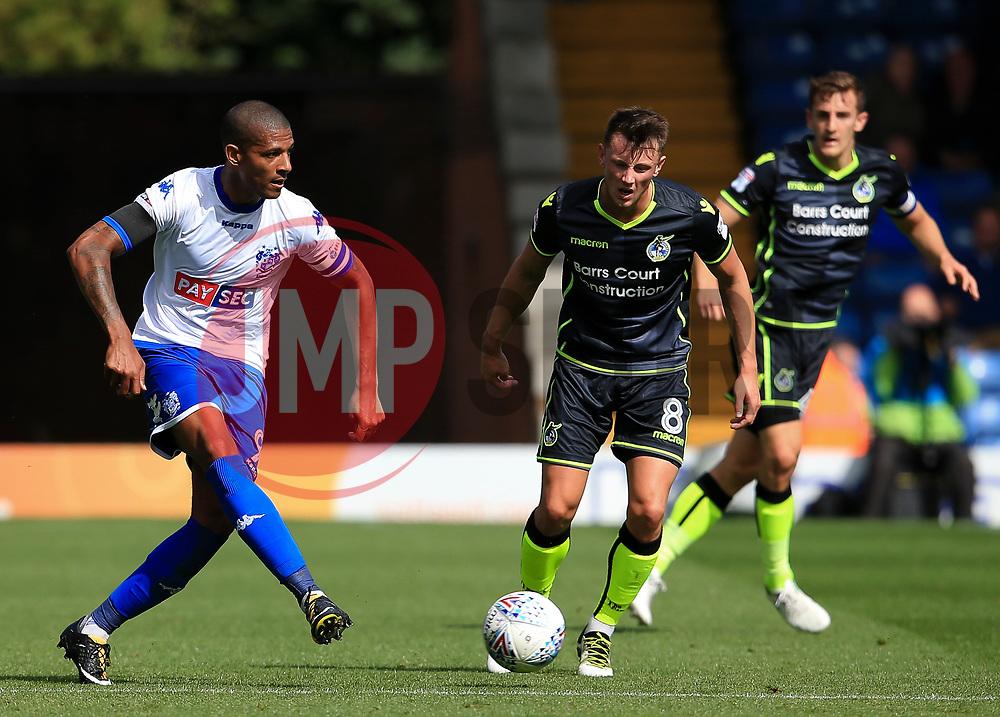 Jermaine Beckford of Bury and Ollie Clarke of Bristol Rovers - Mandatory by-line: Matt McNulty/JMP - 19/08/2017 - FOOTBALL - Gigg Lane - Bury, England - Bury v Bristol Rovers - Sky Bet League One