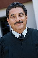 Court judge outdoors, portrait
