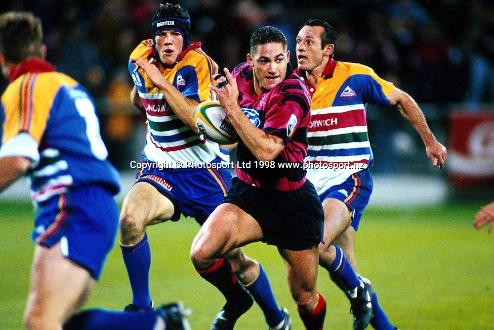 Tony Marsh in action, Canterbury Crusaders, Super 12 Rugby Union. 1998. Photo: Scott Barbour/PHOTOSPORT