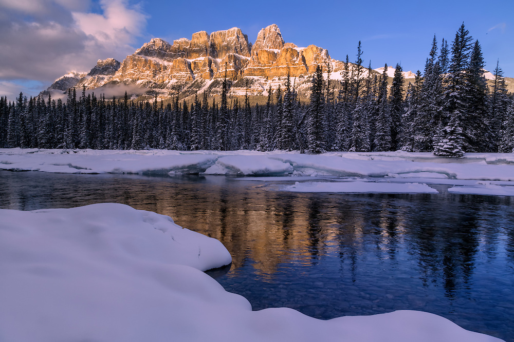 Castle Mountain, Banff National Park, Canadian Rockies, Alberta, Canada