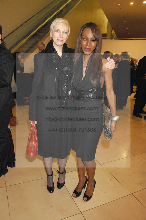 Left to right, ANNIE LENNOX and AMMA ASANTE at a private view of Bryan Adam's photographs entitled 'Modern Muses' held at The National Portrait Gallery, London on 11th March 2008.<br /><br />NON EXCLUSIVE - WORLD RIGHTS