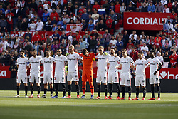 February 23, 2019 - Seville, Madrid, Spain - Sevilla FC team seen before the La Liga match between Sevilla FC and Futbol Club Barcelona at Estadio Sanchez Pizjuan in Seville, Spain. (Credit Image: © Manu Reino/SOPA Images via ZUMA Wire)