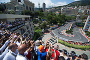 May 20-24, 2015: Monaco Grand Prix: Start of the 73rd Monaco Grand Prix. Lewis Hamilton leads the field