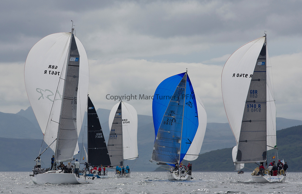 Silvers Marine Scottish Series 2017<br /> Tarbert Loch Fyne - Sailing Day 3<br /> <br /> RC35 FLEET, GBR7667R, Now or Never 3, Neil Sandford, Fairlie YC, Mat 1010, IRL2160, Chimaera, Andrew Craig, Royal Irish YC, J109, GBR9740R, Sloop John T, Iain &amp; Graham Thomson, CCC, Swan 40