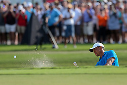 September 22, 2018 - Atlanta, Georgia, United States - Tiger Woods hits out of a greenside bunker on the 15th hole during the third round of the 2018 TOUR Championship. (Credit Image: © Debby Wong/ZUMA Wire)