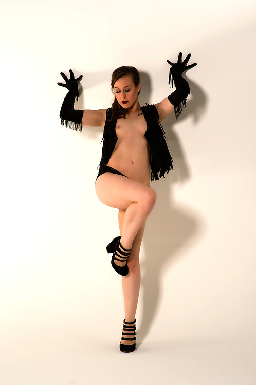 Roxanne in the studio, a little burlesque, and a few nudes.