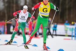SHAPTSIABOI Vasili Guide: LEBEDZEU Mikhail, BLR at the 2014 IPC Nordic Skiing World Cup Finals - Sprint