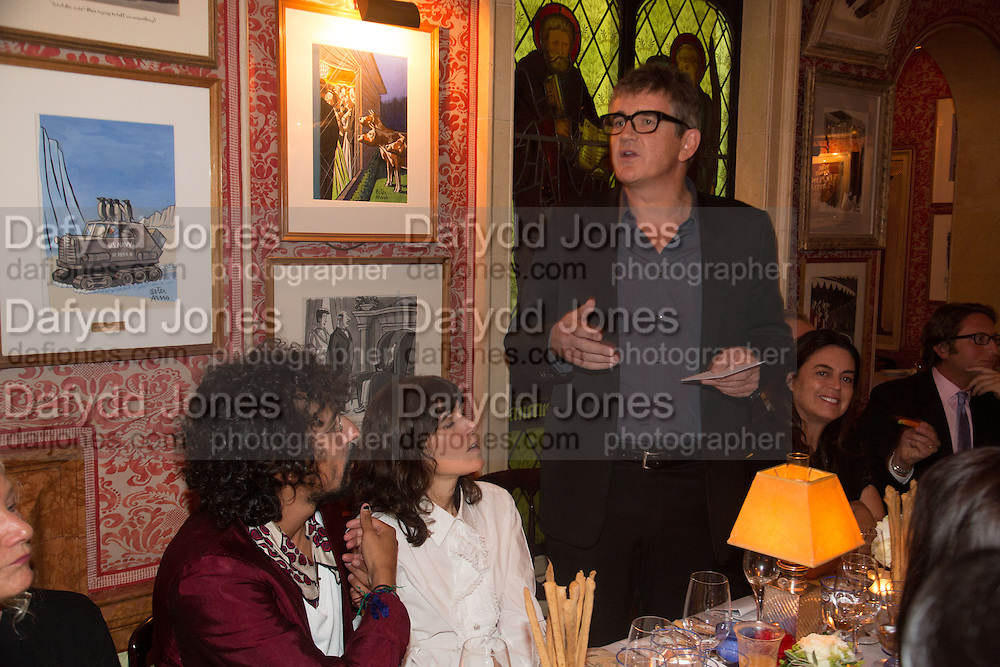 JAY JOPLING, Charles Finch and  Jay Jopling host dinner in celebration of Frieze Art Fair at the Birley Group's Harry's Bar. London. 10 October 2012.