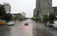 Massive flooding has covered the Midwest section of the United States. In Cedar Rapids, Iowa over 400 blocks were underwater. Other towns are now bracing for the water as it continues downstream.///The rain continues to fall as the water rises downtown Cedar Rapids, Iowa.