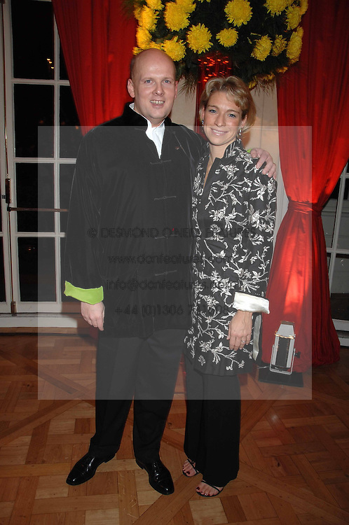 CHRISTOPH MARES General Manager of the Mandarin Oriental and his wife CHRISTINA at a party hosted by the Mandarin oriental Hyde park Hotel to celebrate the Chinese new year on 19th February 2007.<br />