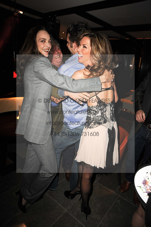 Left to right, CATHERINE BAILEY, DAVID BAILEY, KEITH TYSON and HEATHER KERZNER at a dinner to celebrate the work of Malaria No More UK held at Hakkasan Mayfair, 17 Bruton Street, London W1 on 16th November 2010.