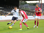 Dundee's Cammy Kerr runs at Rotherham United Aidy White as Jordan Bowry watches - Dundee v Rotherham United - pre-season friendly at Dens Park <br /> <br />  - &copy; David Young - www.davidyoungphoto.co.uk - email: davidyoungphoto@gmail.com