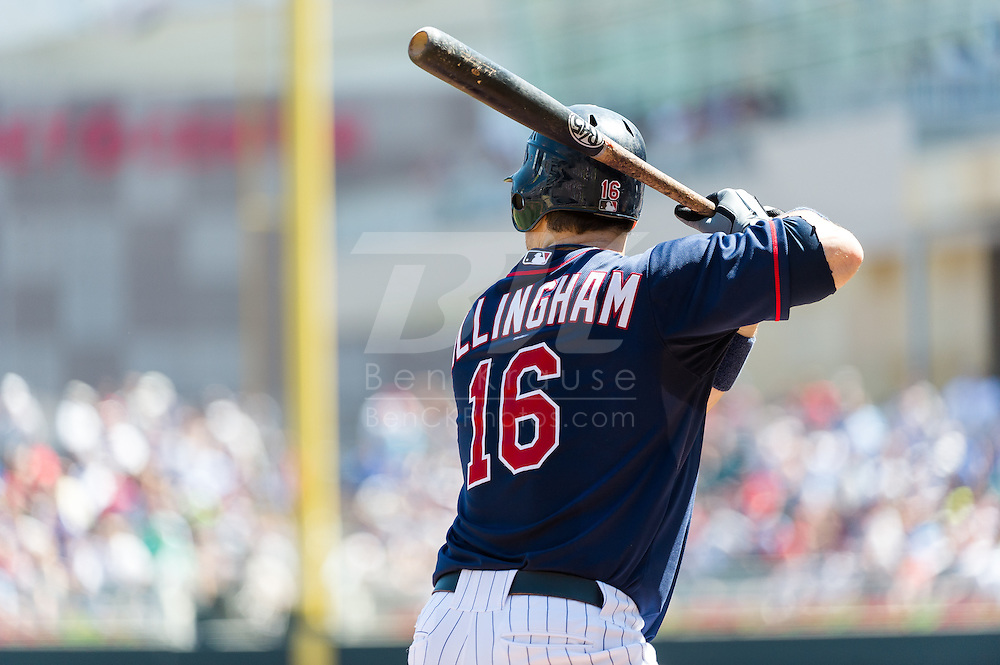 Minnesota Twins left fielder Josh Willingham bats against the Cleveland Indians at Target Field in Minneapolis, Minnesota on July 29, 2012.  The Twins defeated the Indians 5 to 1.  © 2012 Ben Krause
