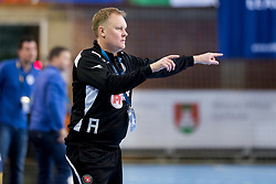 KRISTENSEN Kristian Boldrup, head coach of FC Midtylland during handball match between RK Krim Mercator and FC Midtjylland in Main Round of Women's EHF Champions League 2017/18 , on January 27, 2018 in Sports hall Kodeljevo, Ljubljana, Slovenia. Photo by Urban Urbanc / Sportida