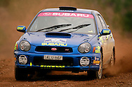 Cody Crocker & Greg Foletta.Subaru Impreza WRX.Motorsport-Rally/2003 Rally of Canberra .Canberra, ACT, Australia.25-27th of April 2003.(C) Joel Strickland Photographics