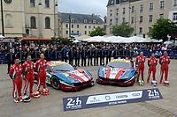 Gianmaria Bruni (ITA) / James Calado (GBR) / Alessandro Pier Guidi (ITA)  #51 and Davide Rigon (ITA) / Sam Bird (GBR) / Andrea Bertolini (ITA)  #71 AF Corse Ferrari 488 GTE,  during the Le Mans 24 Hr June 2016 at Circuit de la Sarthe, Le Mans, Pays de la Loire, France. June 13 2016. World Copyright Peter Taylor/PSP.
